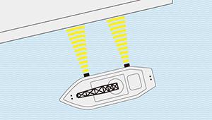 ミリ波レーダー 作業船離着桟管理システム 製品イメージ