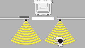ミリ波レーダー工事車両退場警報システム製品イメージ