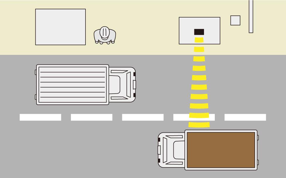 入出庫警報システム イメージイラスト