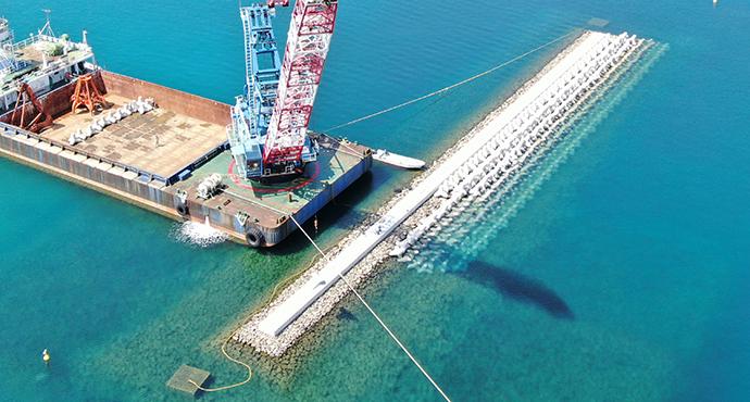 藻場造成工事を終えた漁場