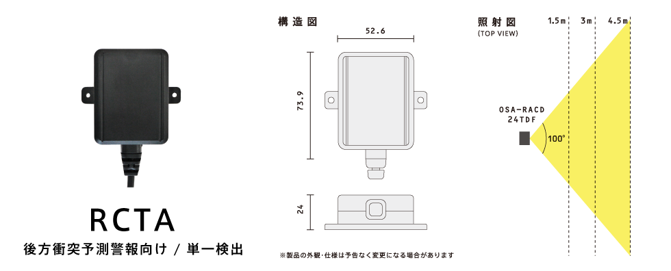 OSA-RACD-24TDF製品スペック